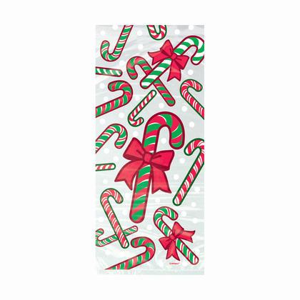 Candy Cane Cellophane Bags, 11