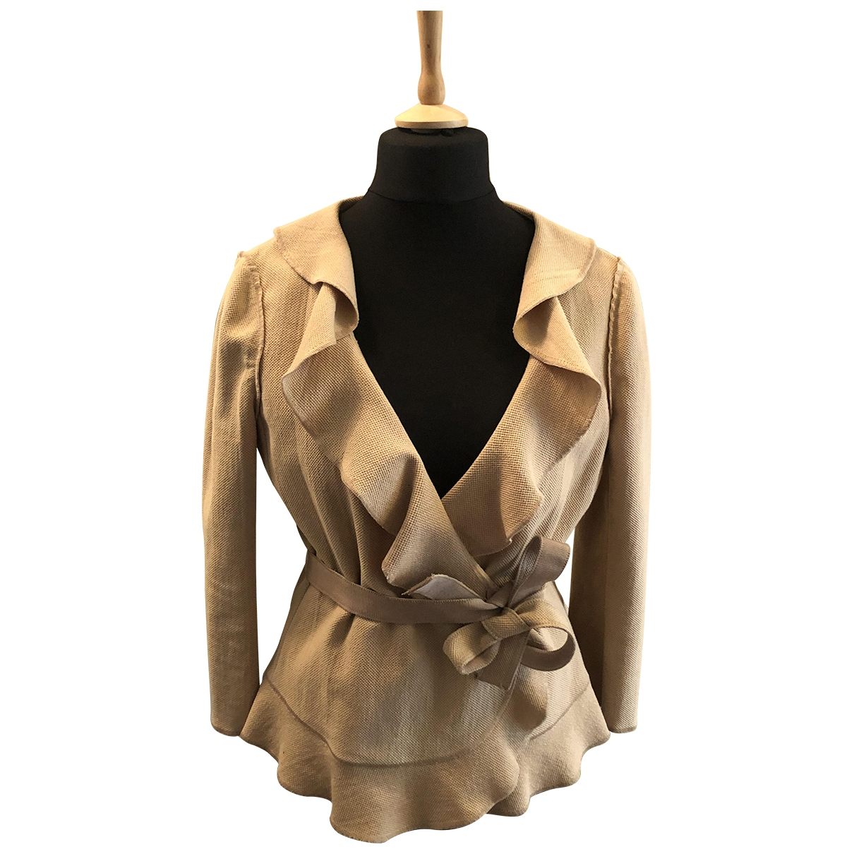 Moschino Cheap And Chic \N Beige Cotton jacket for Women 48 IT