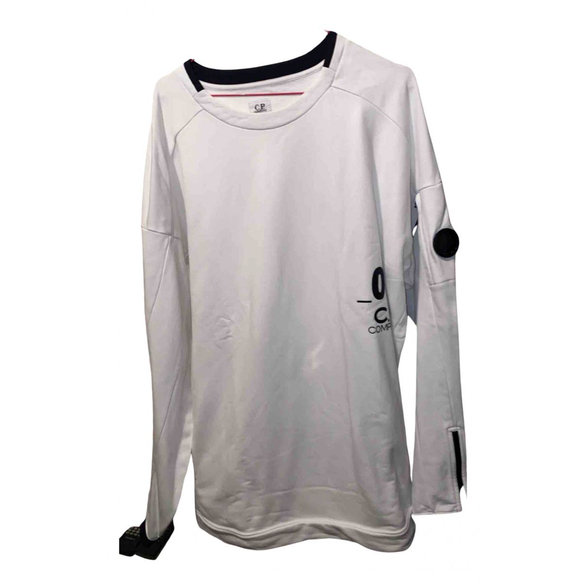 Cp Company \N Pullover.Westen.Sweatshirts  in  Weiss Baumwolle