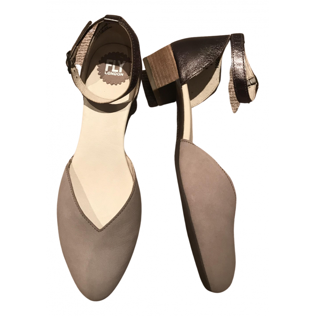 Non Signé / Unsigned N Beige Leather Heels for Women 41 EU