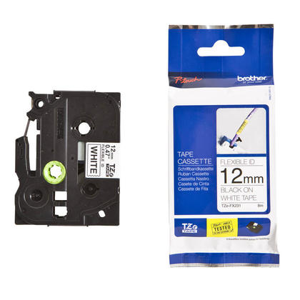 Brother TZe-FX231 Original P-Touch Label Tape, 12mm (0.47