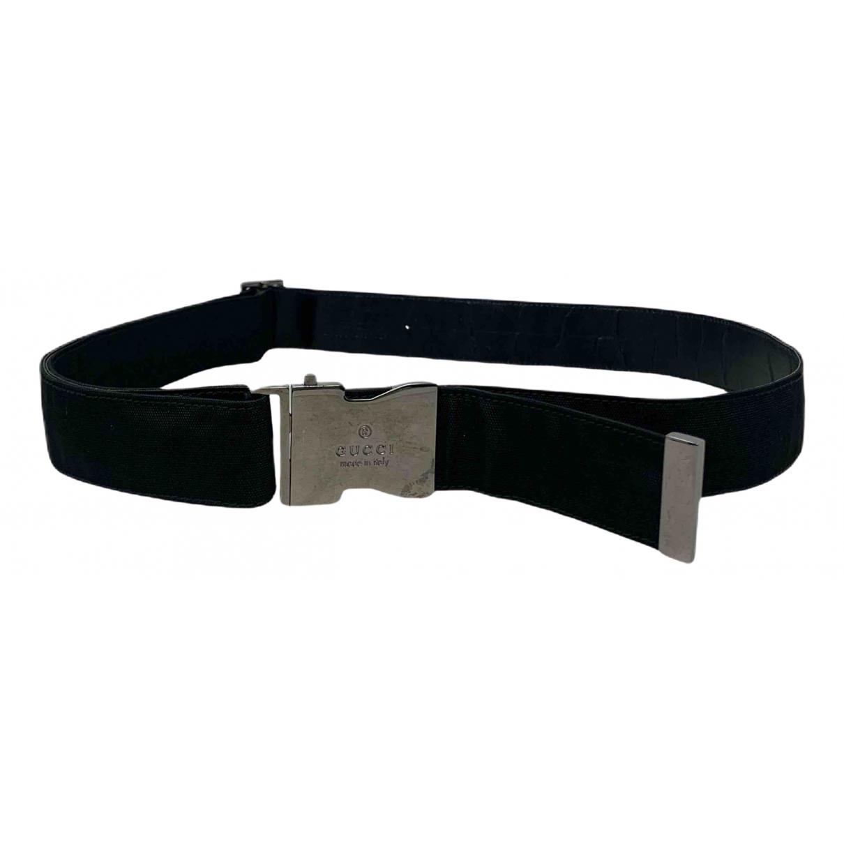 Gucci N Black Cloth belt for Women 70 cm