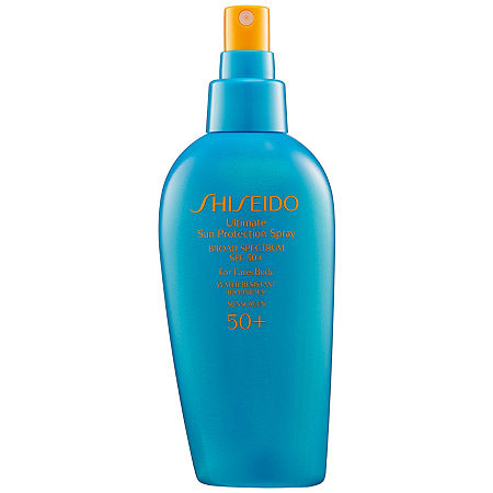 Shiseido Ultimate Sun Protection Spray Broad Spectrum SPF 50+ For Face/Body, One Size , No Color Family