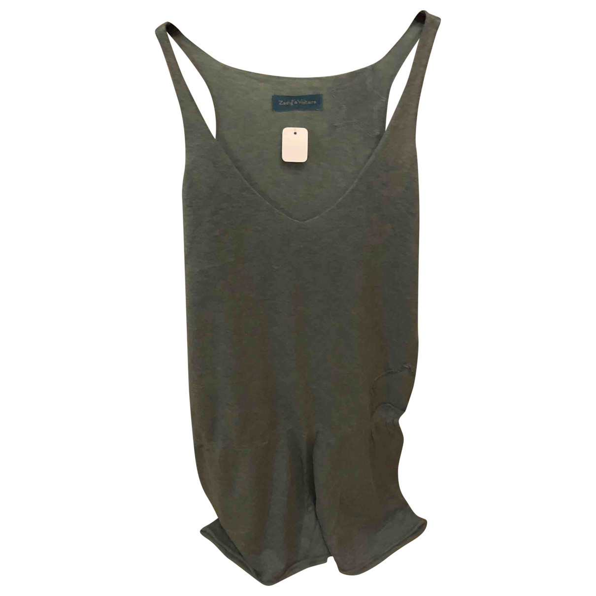 Zadig & Voltaire \N Kleid in  Gruen Baumwolle