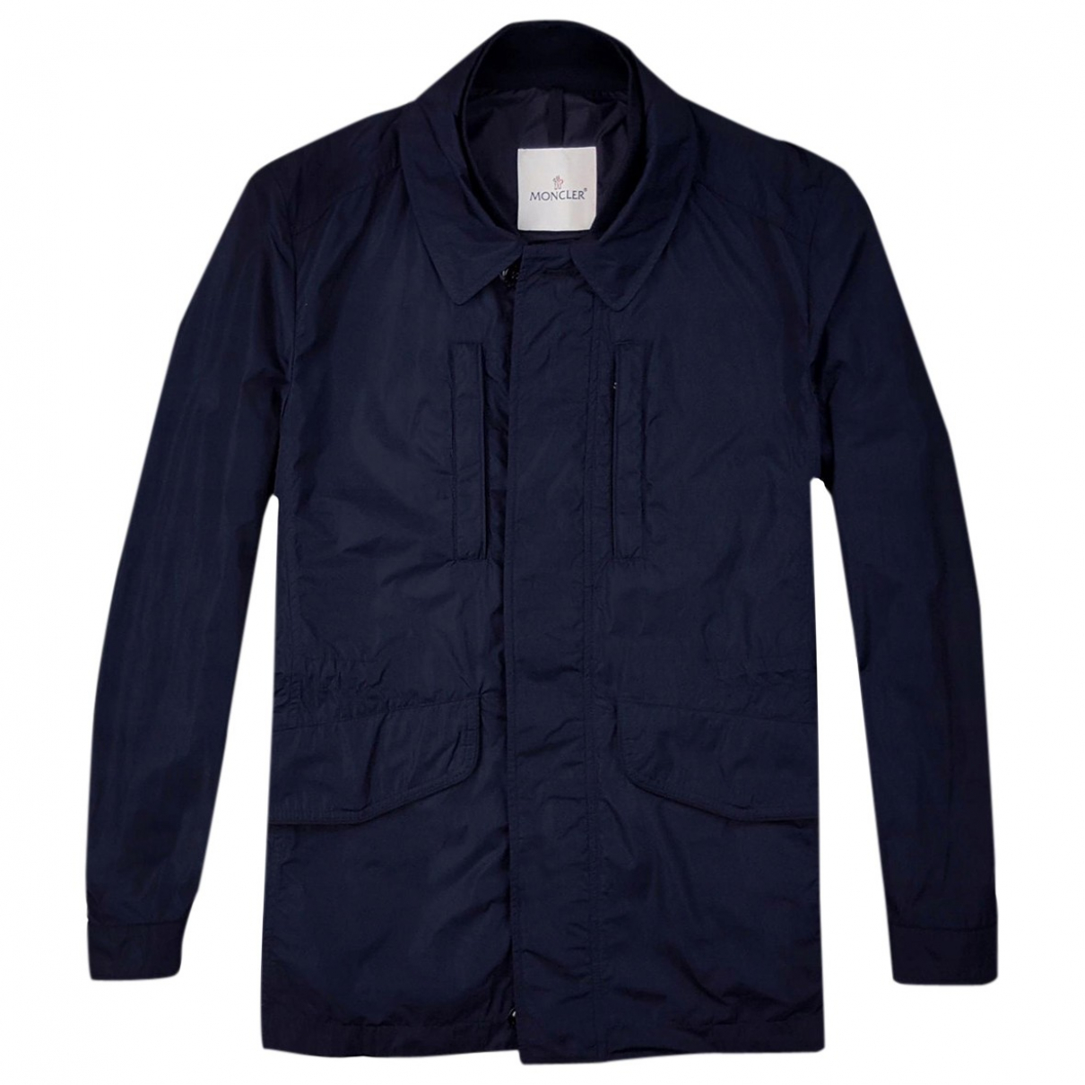 Moncler \N Jacke in  Marine Polyester