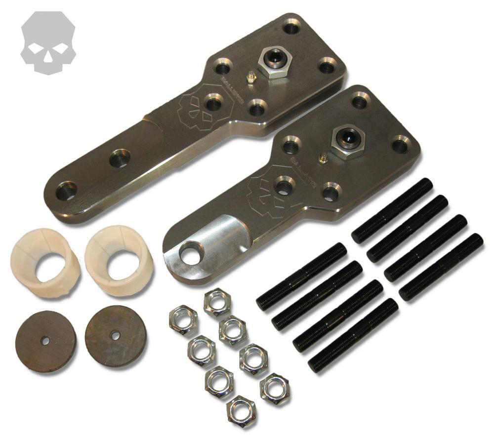 D60 High Steer Kit For Kingpin Axles 3/4 Inch Bolt Hole Short Passenger and Short Driver Arms Ballistic Fabrication HSA-601-4DRILL