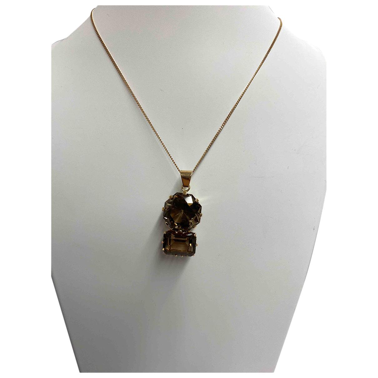 - Collier Art Deco pour femme en or jaune - dore