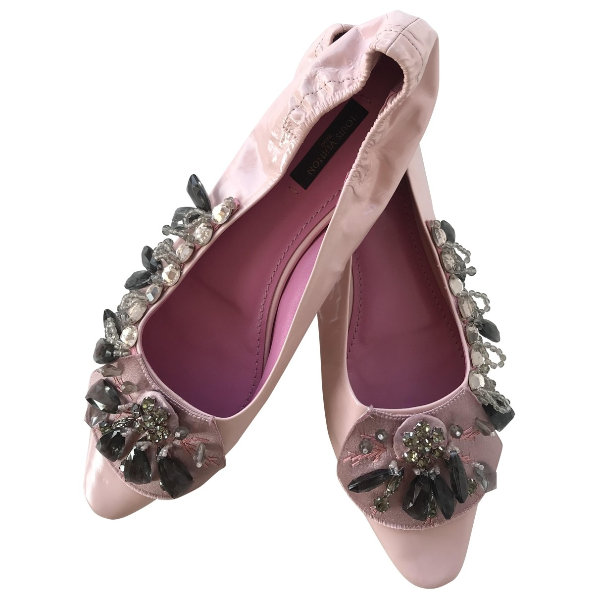 Louis Vuitton \N Pink Patent leather Ballet flats for Women 39 EU