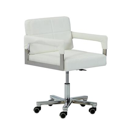 Modrest Craig Collection VGVCA508-WHT Office Chair with Modern Style and Bonded Leather in White