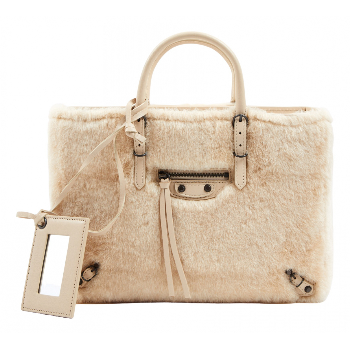Balenciaga Papier Beige Wool handbag for Women N