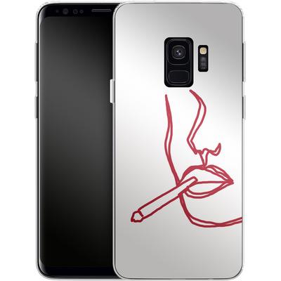 Samsung Galaxy S9 Silikon Handyhuelle - Cigarette Sketch von Lucy Bohr