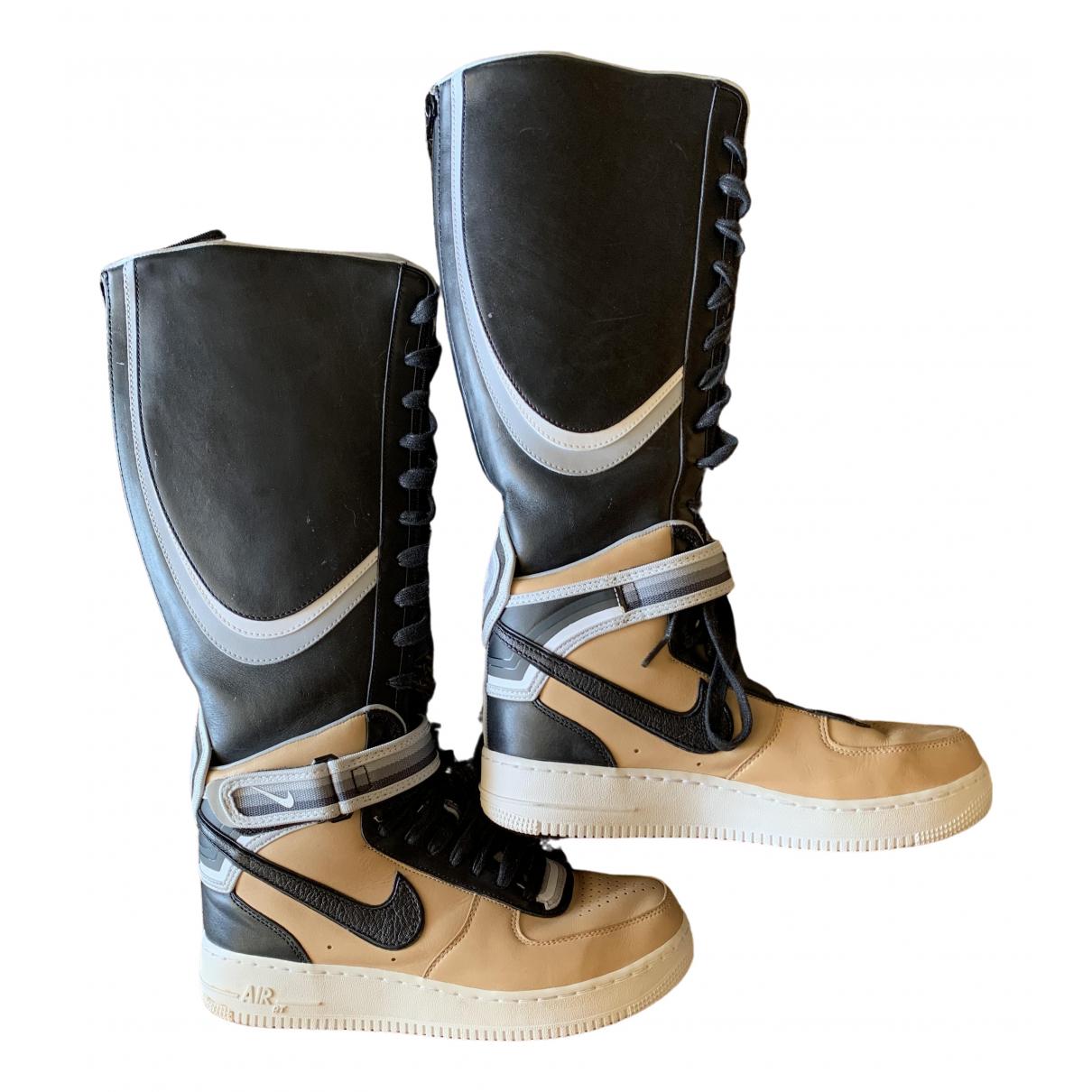 Nike By Riccardo Tisci \N Beige Leather Trainers for Women 40 EU