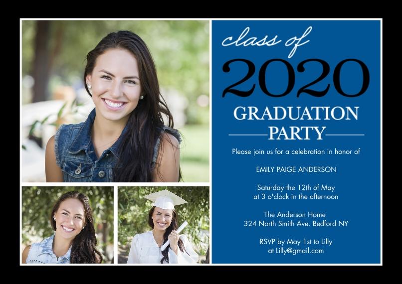 2020 Graduation Invitations 5x7 Cards, Premium Cardstock 120lb, Card & Stationery -Graduation Invite Stack 2020 by Tumbalina