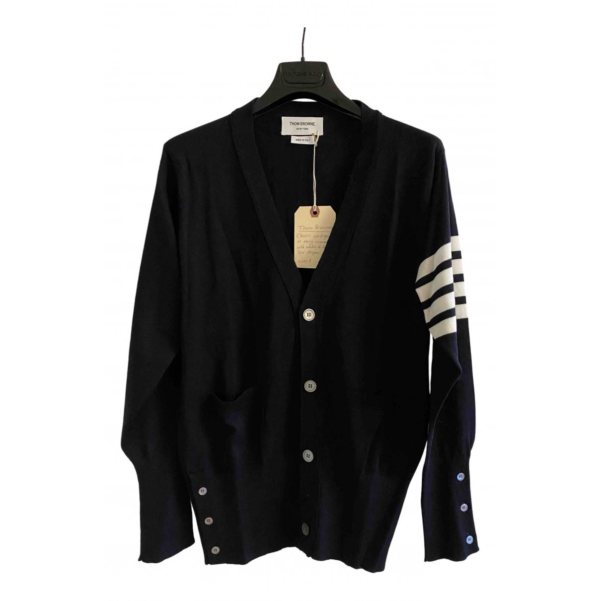 Thom Browne N Navy Wool Knitwear & Sweatshirts for Men 1 0 - 6