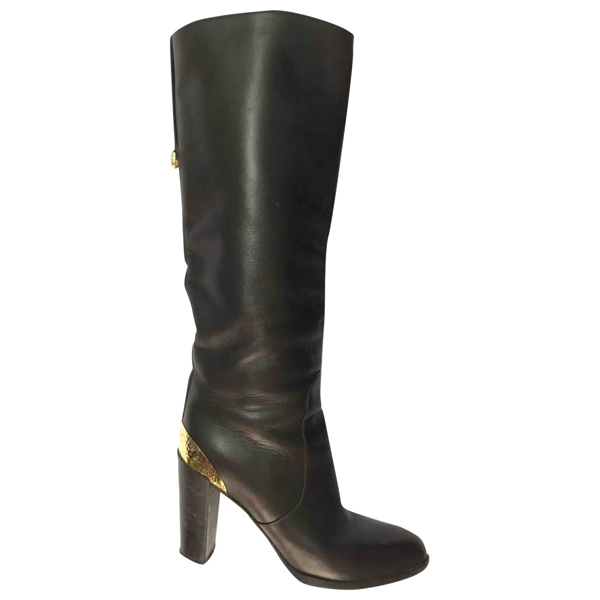 Sergio Rossi \N Brown Leather Boots for Women 36.5 EU