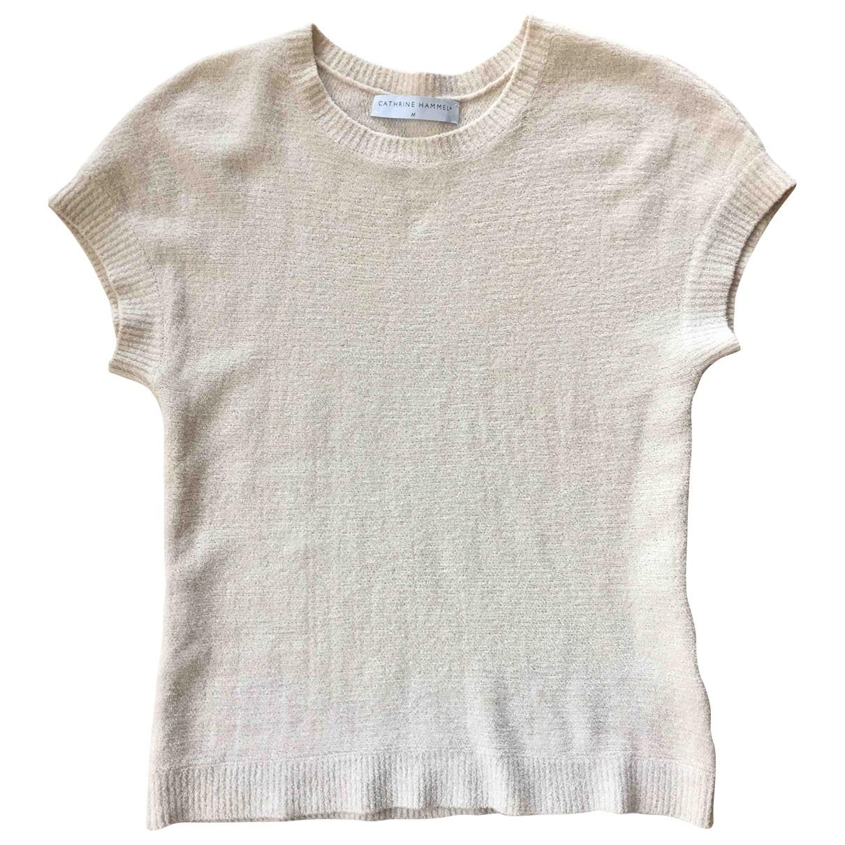 Cathrine Hammel - Pull   pour femme en coton - beige