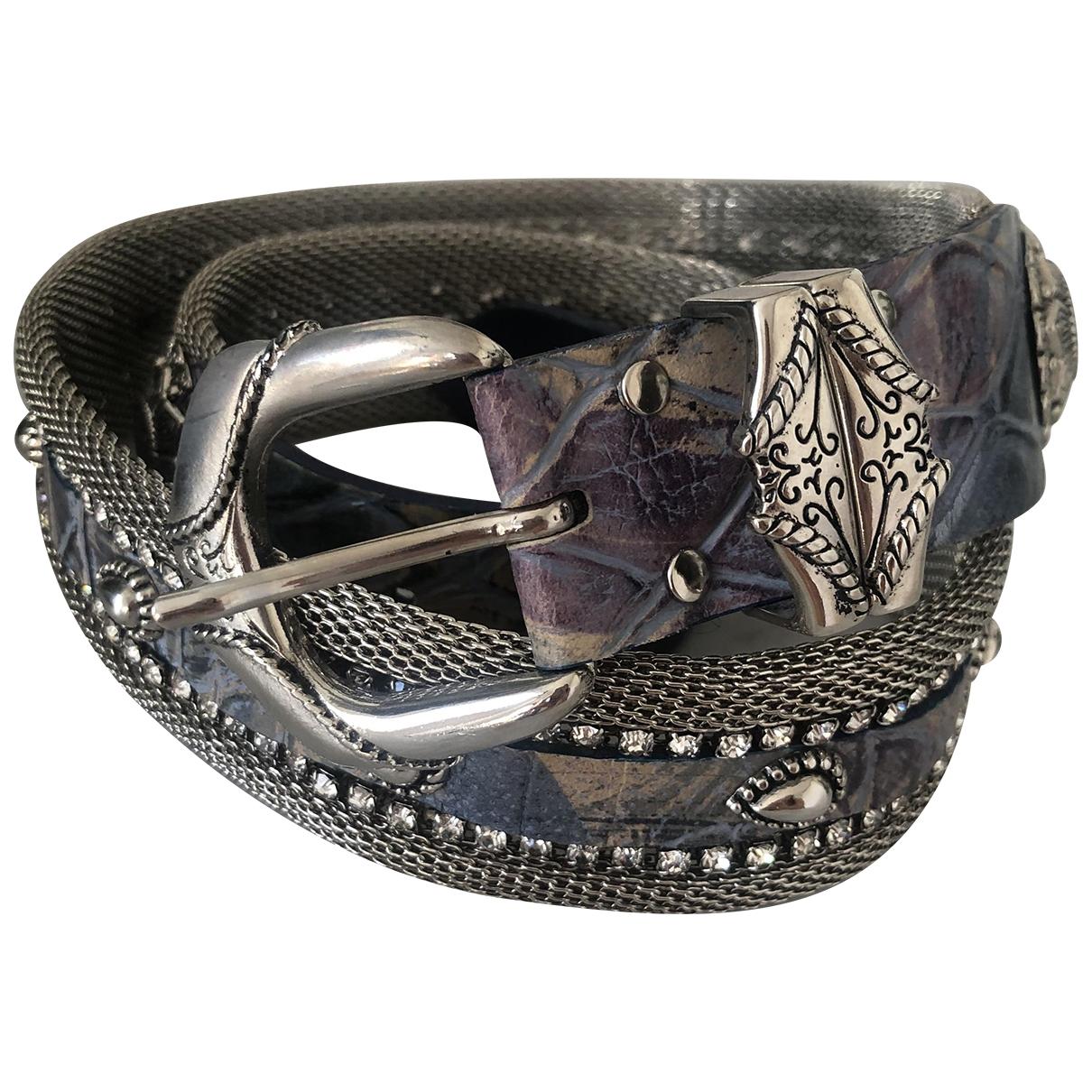 Non Signé / Unsigned \N Blue Metal belt for Women 85 cm