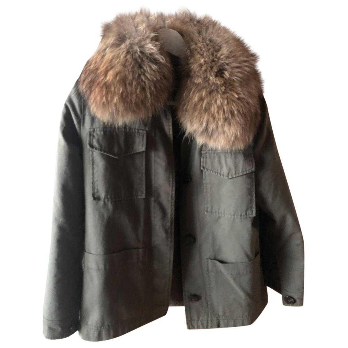 Army - Manteau   pour femme en fourrure - kaki