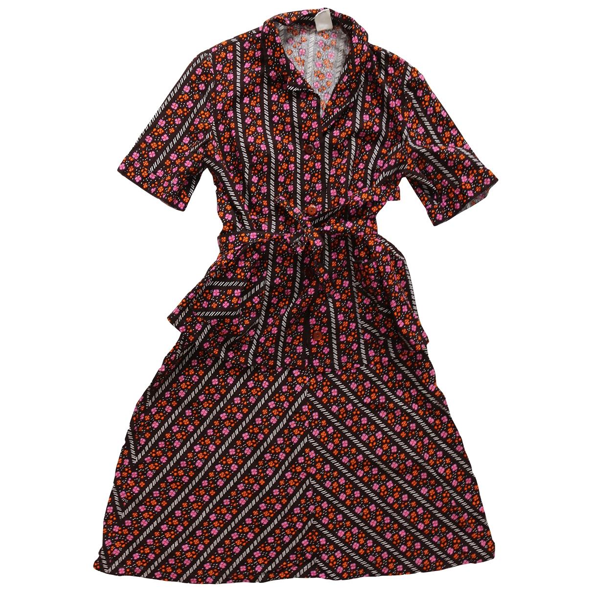 - Robe Hippie Chic pour femme en coton - marron