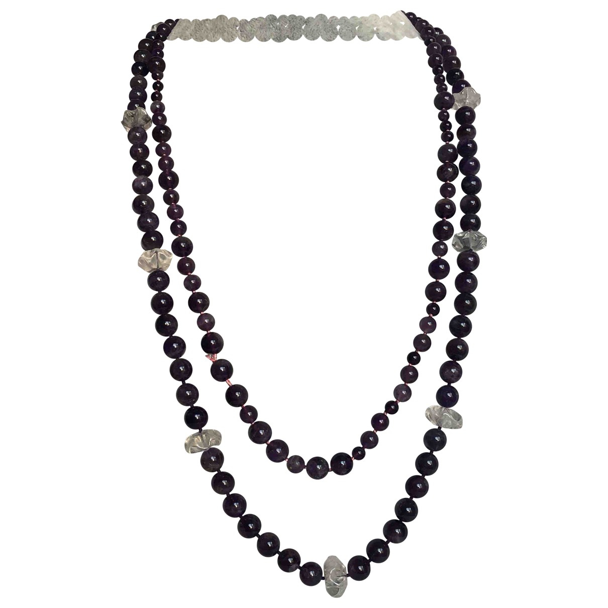 - Sautoir Amethyste pour femme en metal - violet