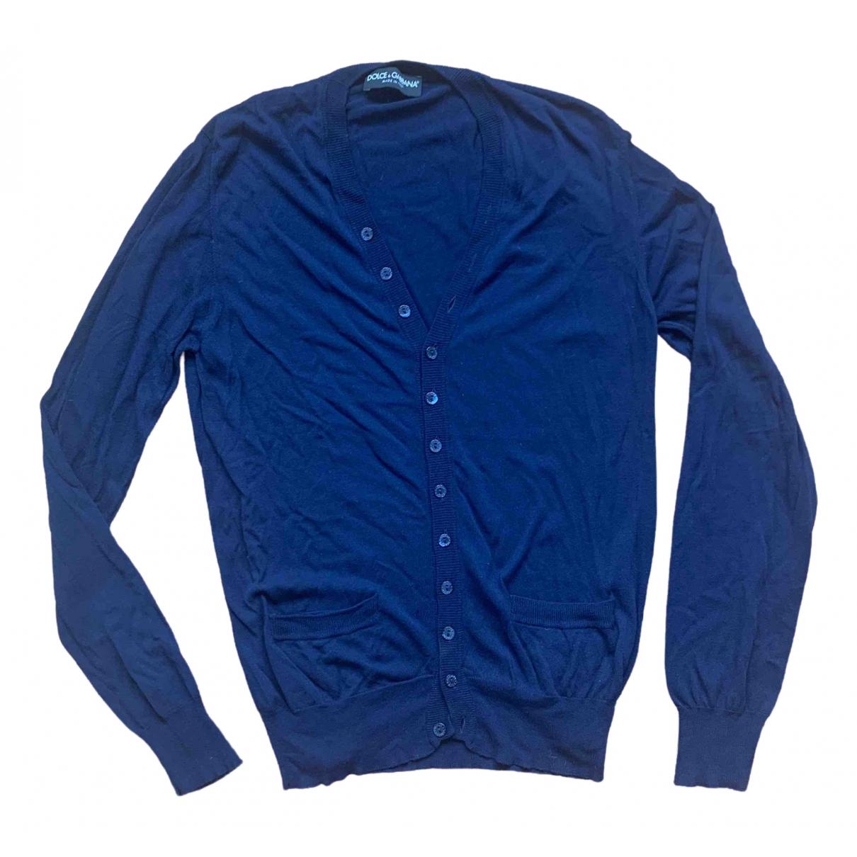 Dolce & Gabbana \N Pullover.Westen.Sweatshirts  in  Marine Viskose