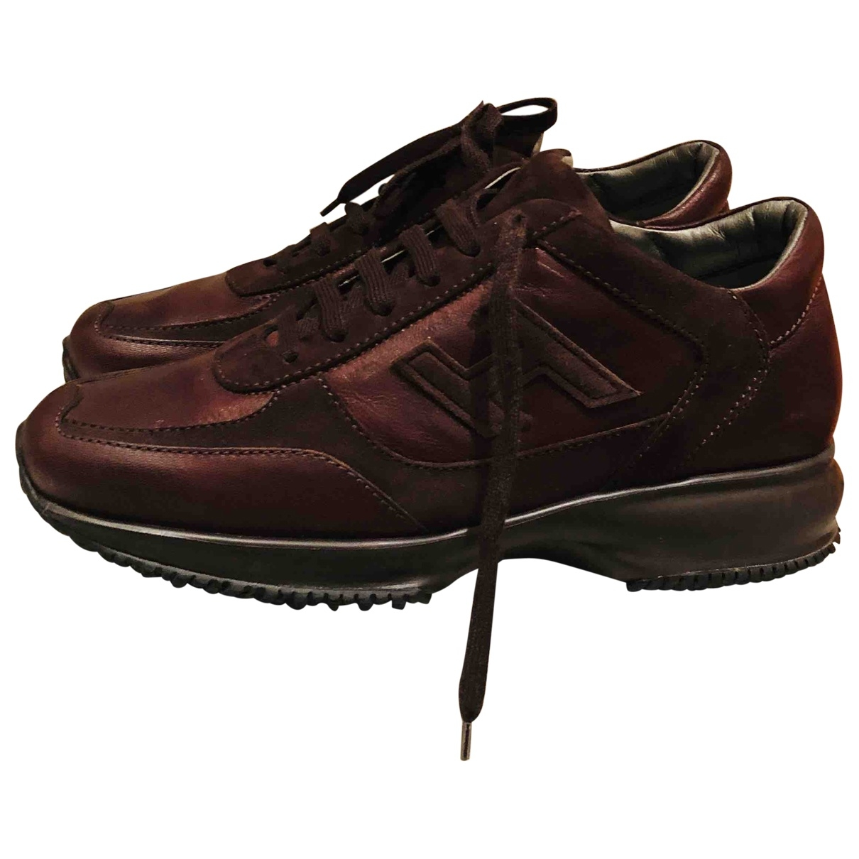 Hogan \N Brown Leather Trainers for Women 37 EU