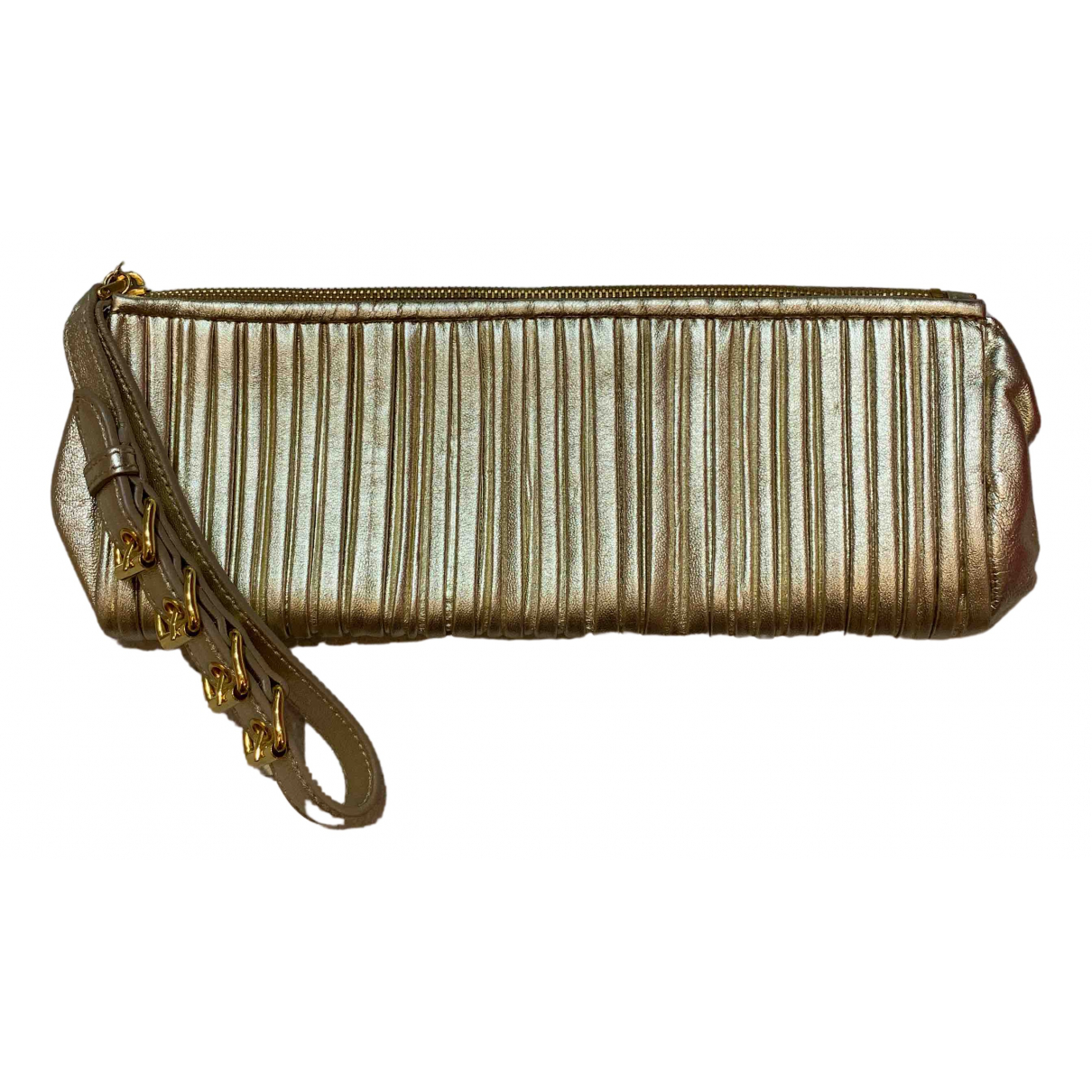 Miu Miu \N Clutch in  Gold Leder