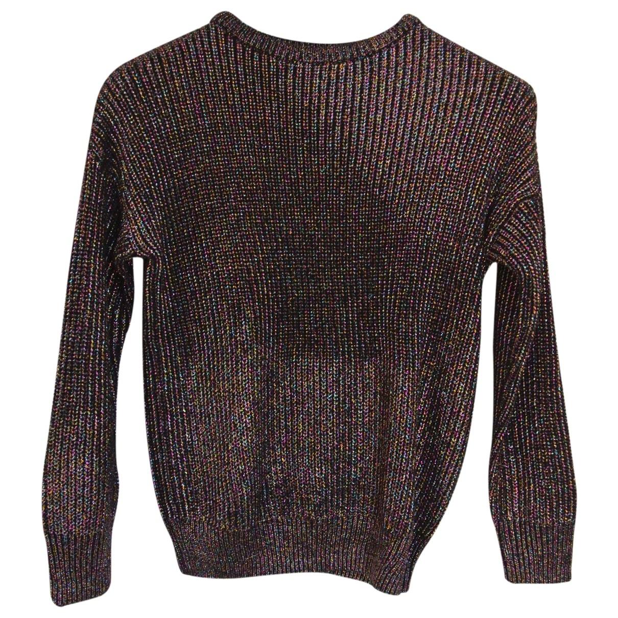 American Apparel - Pull   pour femme en coton - metallise