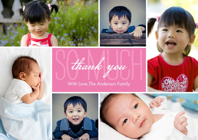 Thank You Cards Flat Matte Photo Paper Cards with Envelopes, 5x7, Card & Stationery -Thank You Overlay