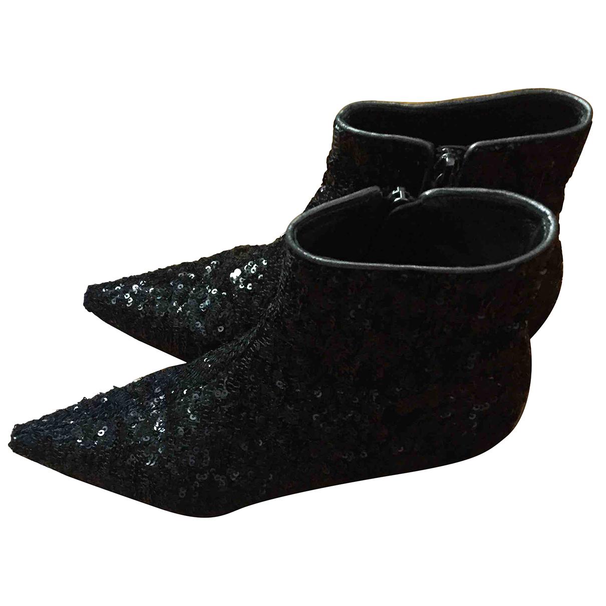 Dolce & Gabbana - Boots   pour femme en a paillettes - noir