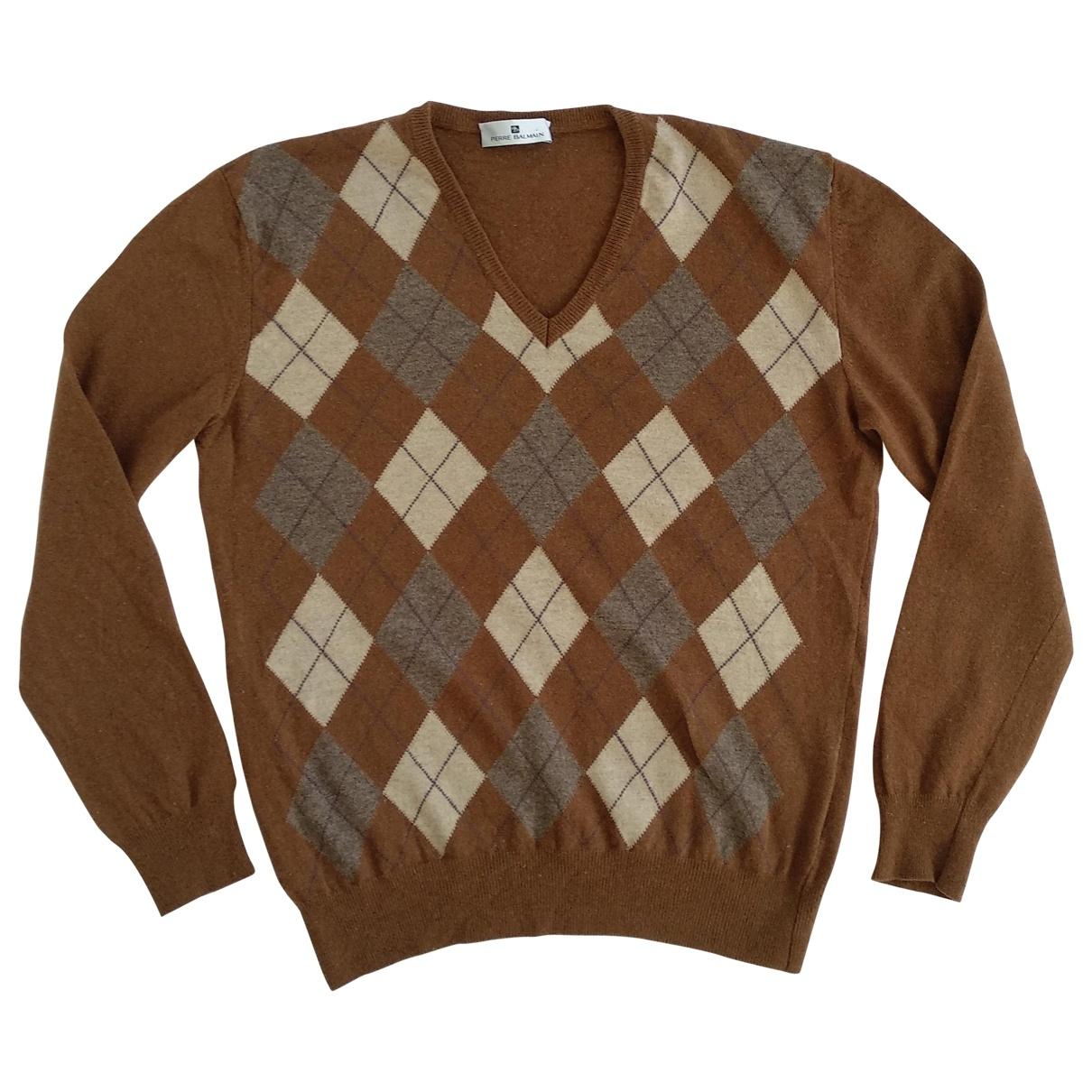 Pierre Balmain - Pulls.Gilets.Sweats   pour homme en laine - marron