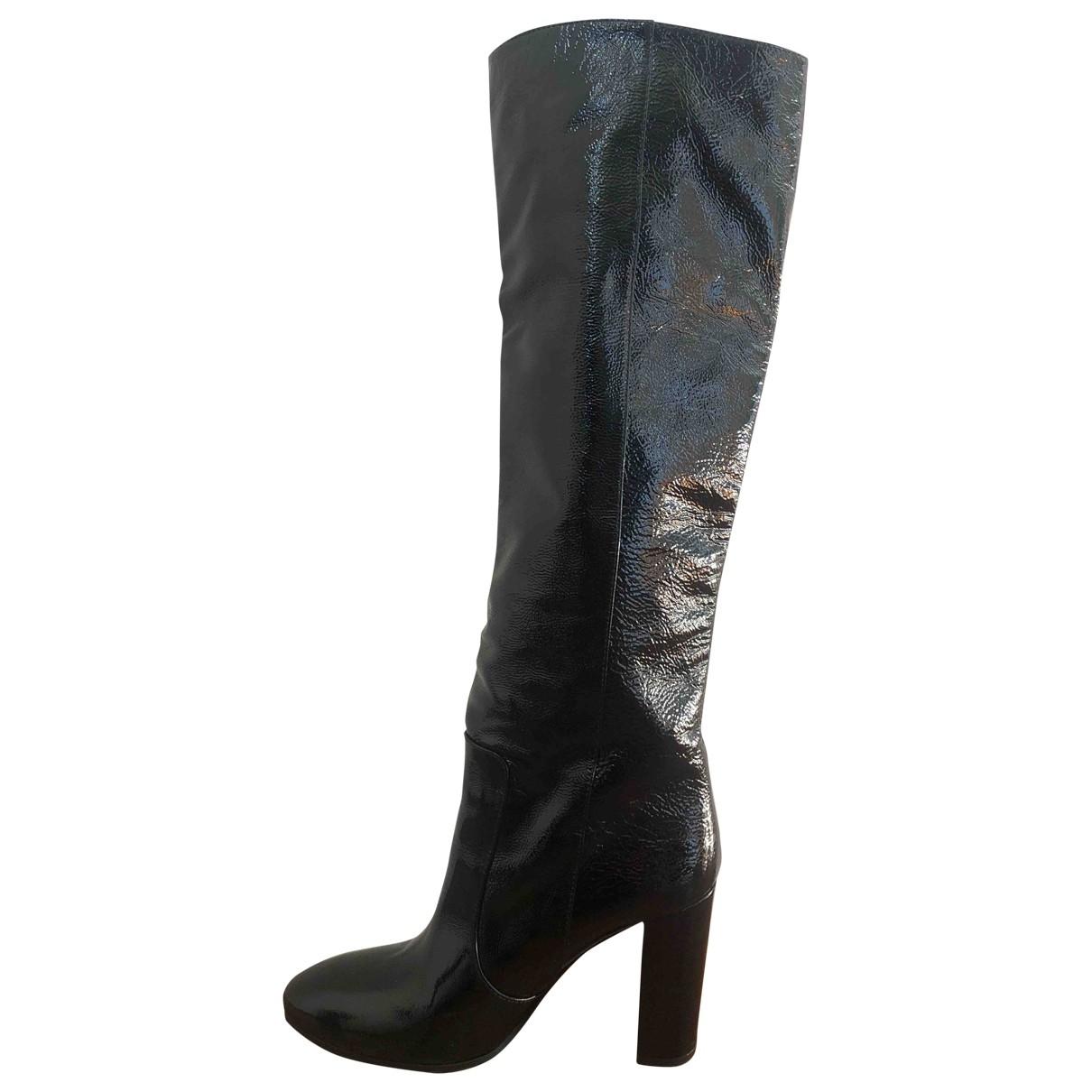 Paris Texas - Bottes   pour femme en cuir verni - noir