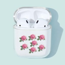 1pc Floral Print AirPods Case