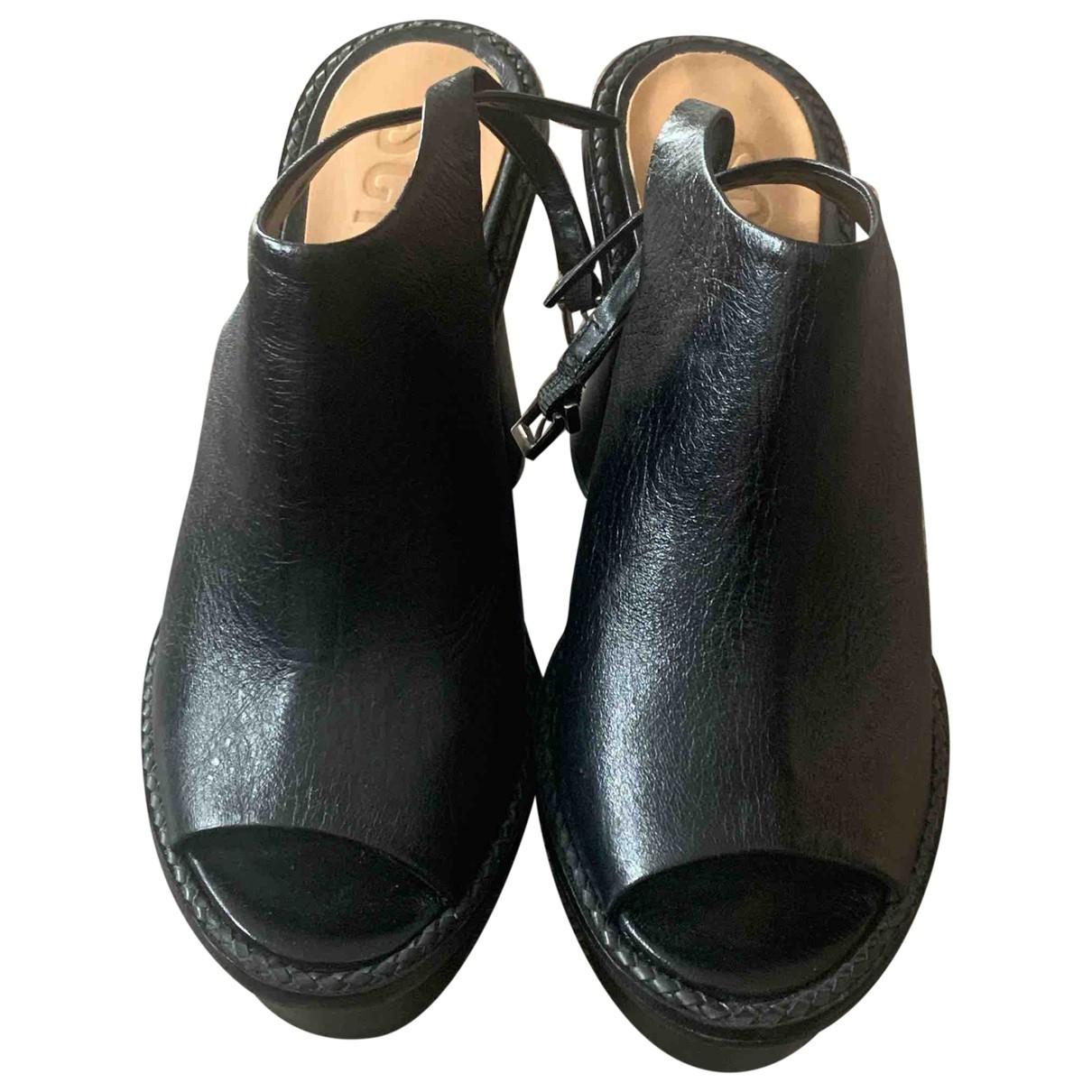 Schutz \N Clogs in  Schwarz Leder