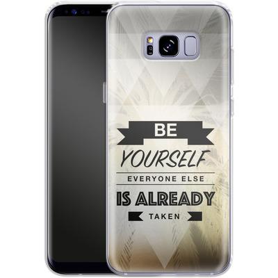 Samsung Galaxy S8 Plus Silikon Handyhuelle - Be Yourself von Statements