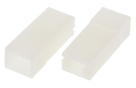 TE Connectivity AMP FASTON Series, 1 Way Nylon Crimp Terminal Housing, 4.75mm Tab Size, Natural (100)
