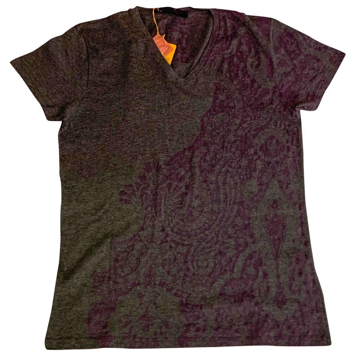 Etro \N Anthracite Cotton T-shirts for Men M International