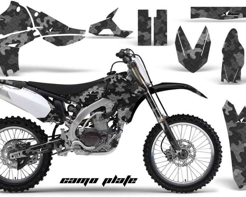 AMR Racing Dirt Bike Graphics Kit Decal Sticker Wrap For Yamaha YZ450F 2010-2013áCAMOPLATE BLACK