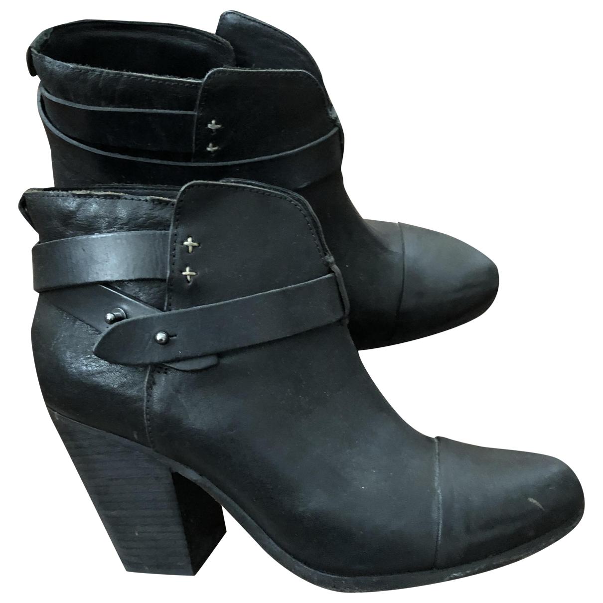 Rag & Bone - Boots   pour femme en cuir - noir