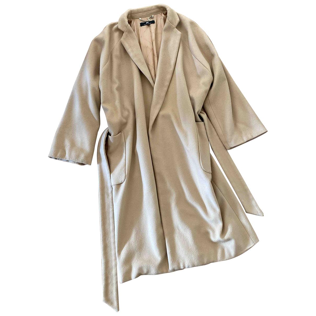 Elisabetta Franchi N Beige Wool coat for Women 44 IT
