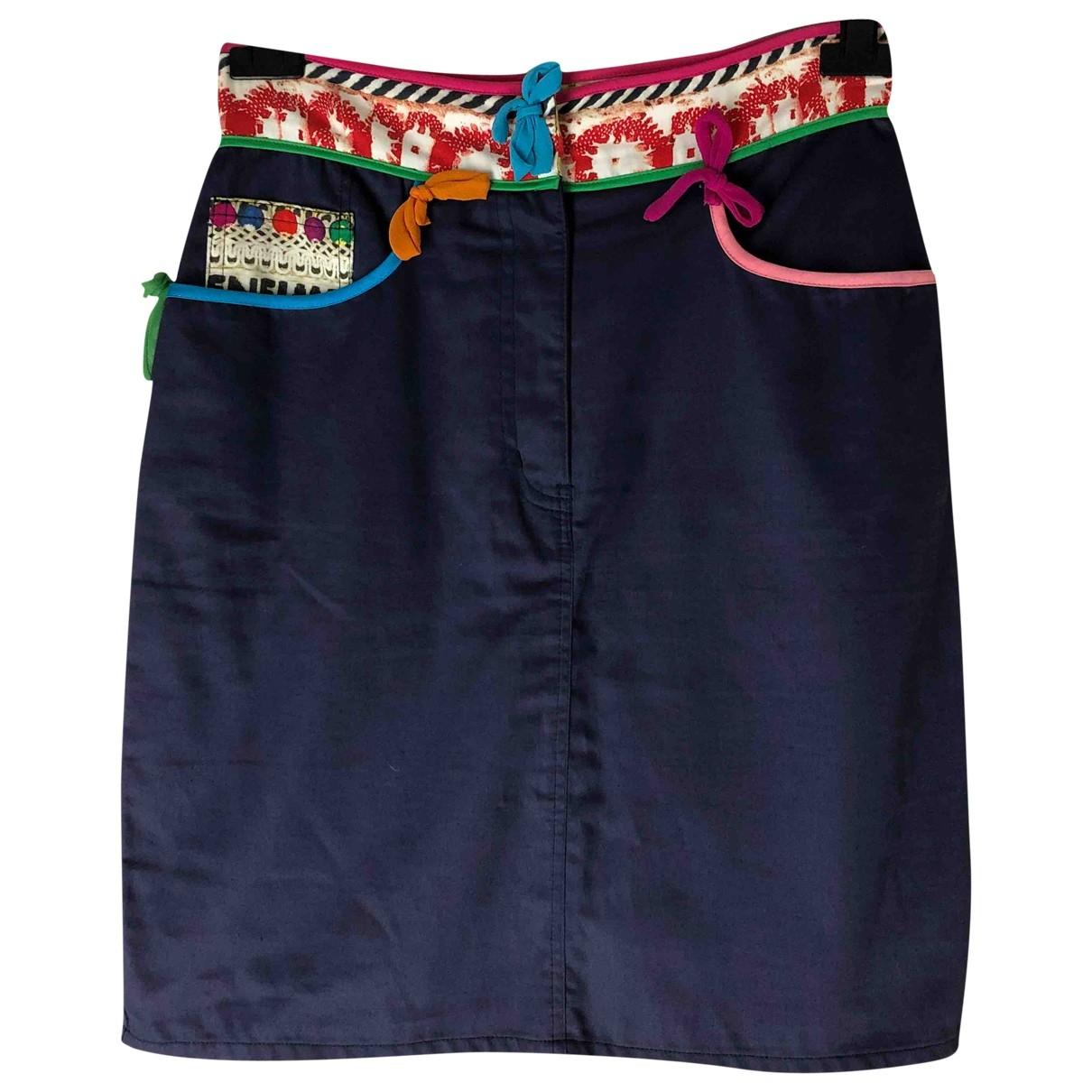 Moschino Cheap And Chic - Jupe   pour femme en coton - bleu