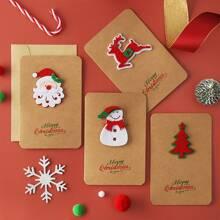 2 Stuecke zufaellige Weihnachtsgrusskarte