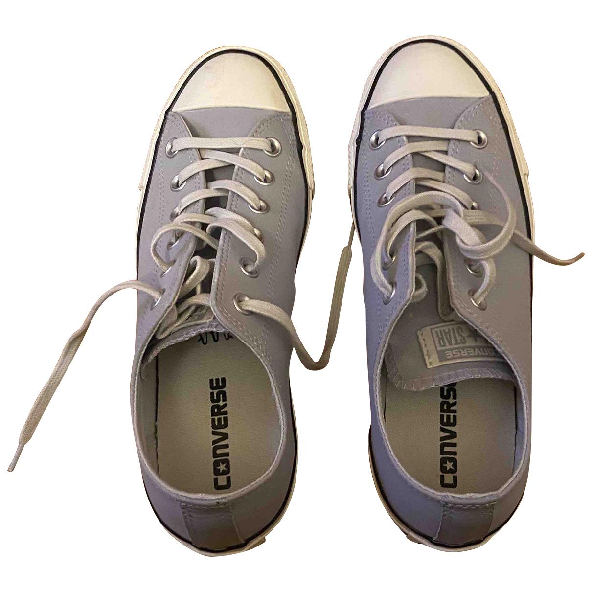 Converse \N Schnuerschuhe in  Grau Leder