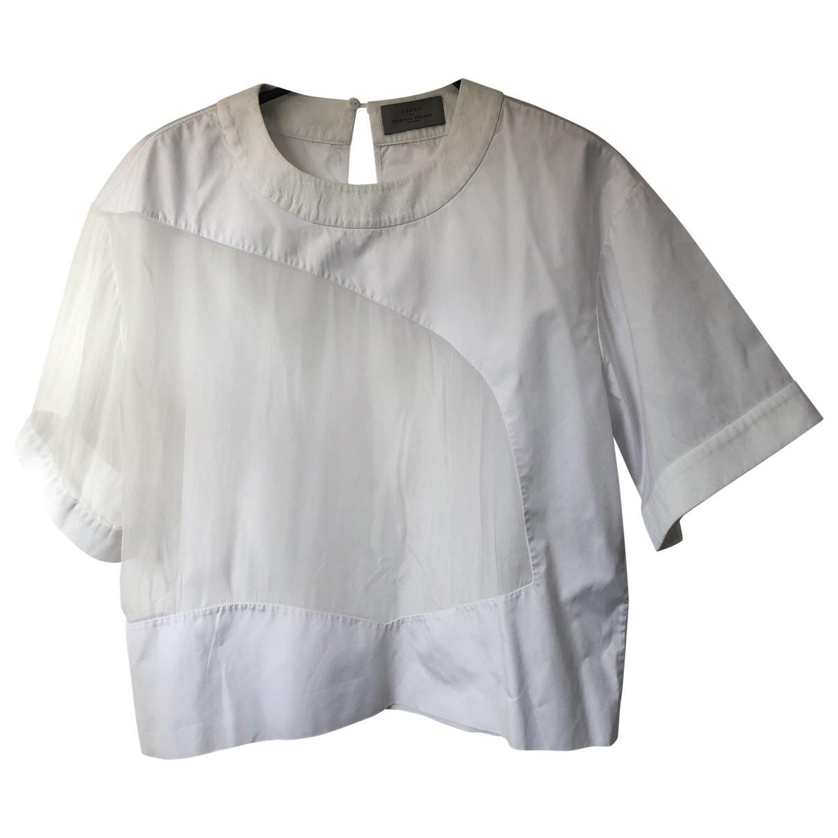 Preen By Thornton Bregazzi - Top   pour femme en coton - blanc