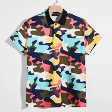 Polo Shirt mit Camo Muster