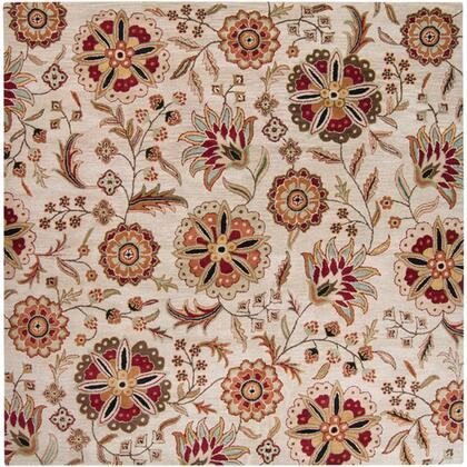 Athena Collection ATH5035-8SQ Square 8' Area Rug  Hand Tufted with Wool Material in Brown and Red