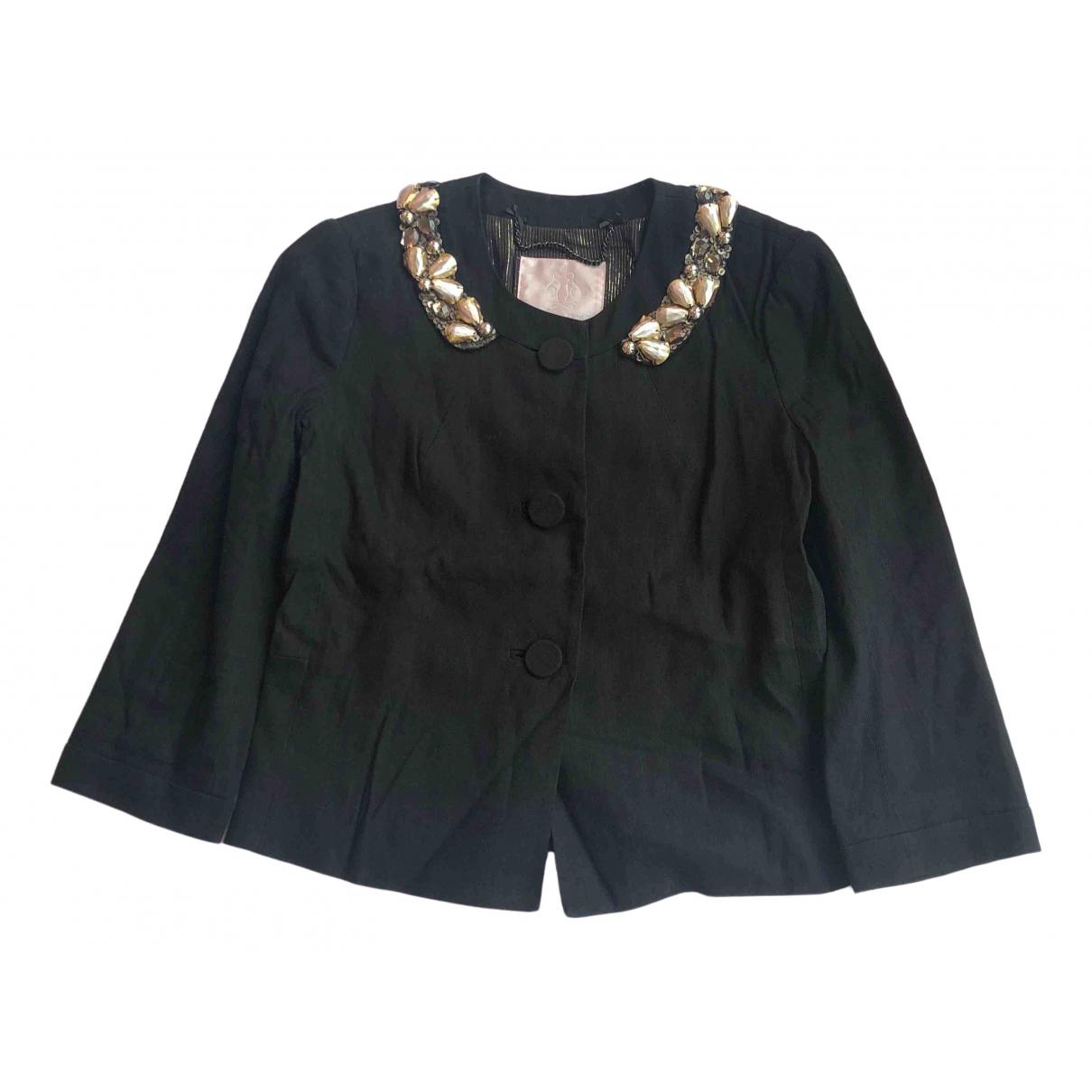 Rebecca Taylor \N Black Linen jacket for Women 0 0-5