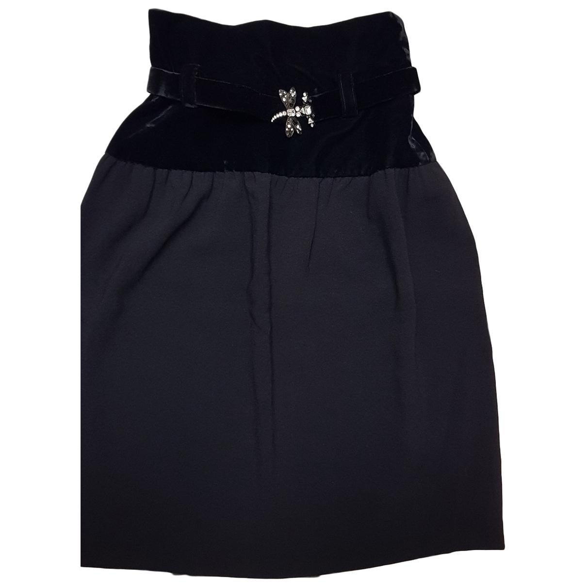 Jean-louis Scherrer - Jupe   pour femme en velours - noir
