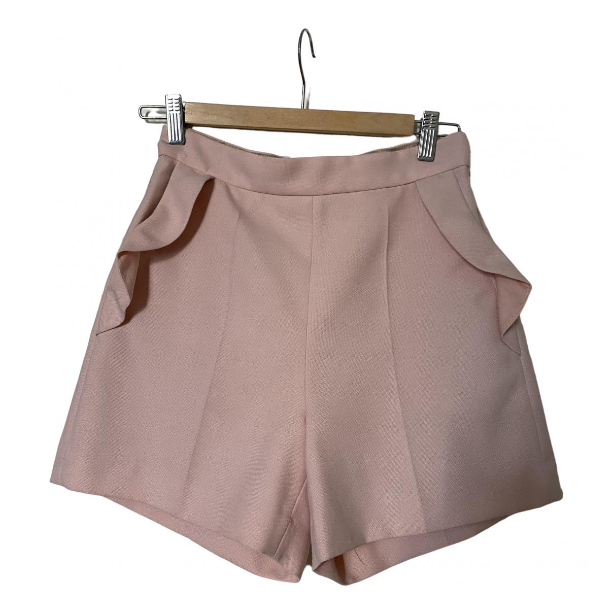Sandro \N Shorts in  Rosa Baumwolle