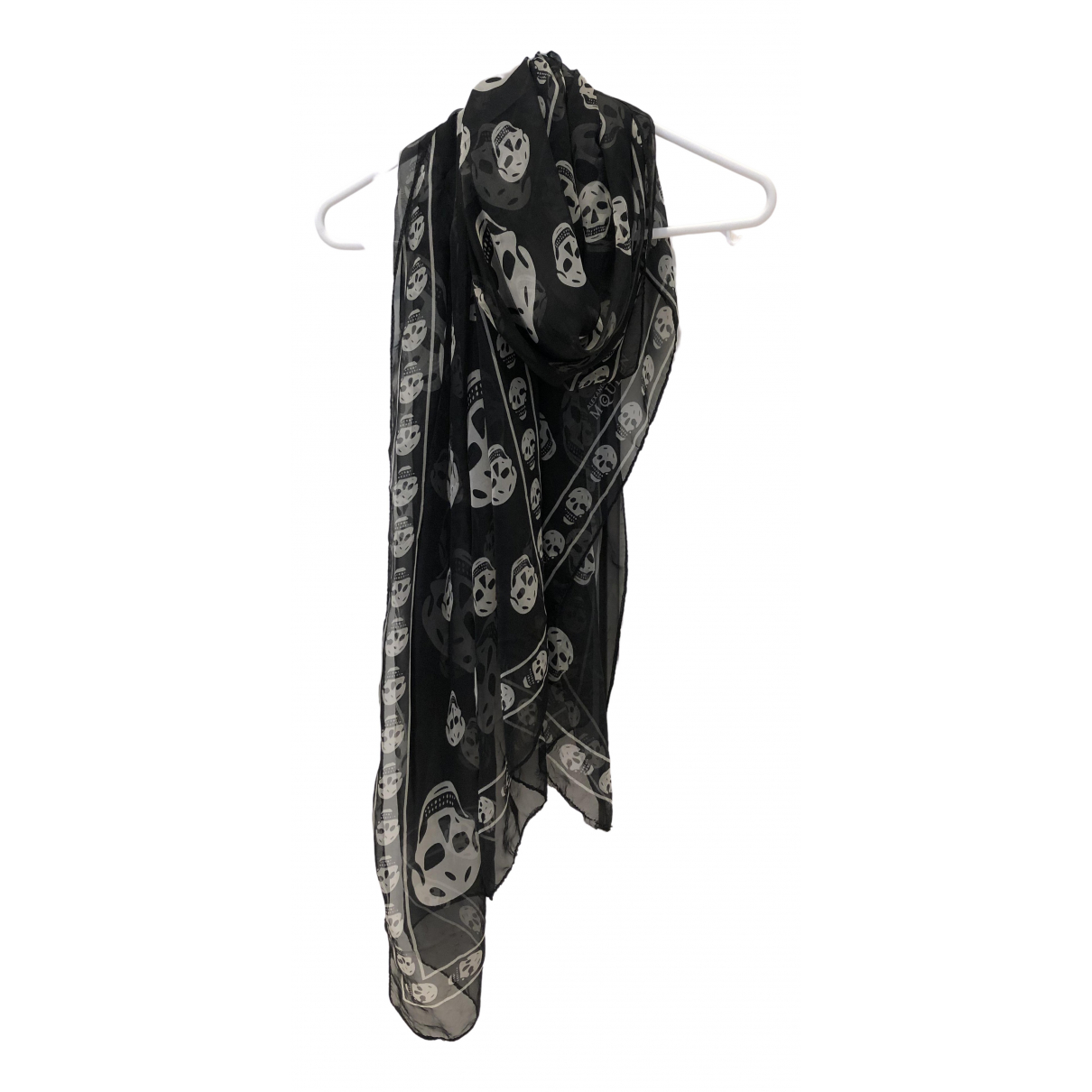 Alexander Mcqueen \N Black Cotton scarf for Women \N